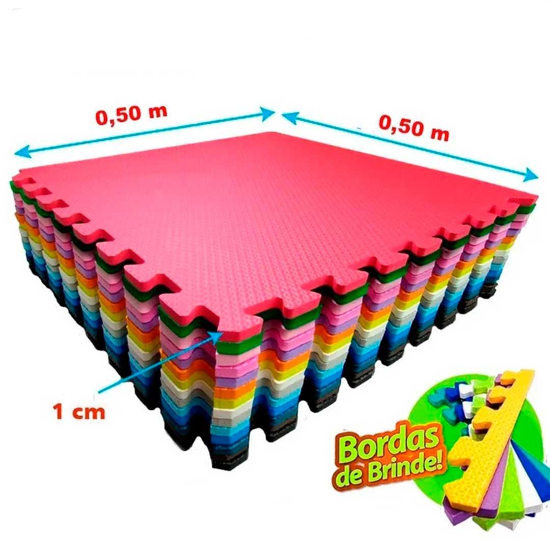 Tatame Eva Kids 10mm 0.50x0.50m - Rosa - DTC