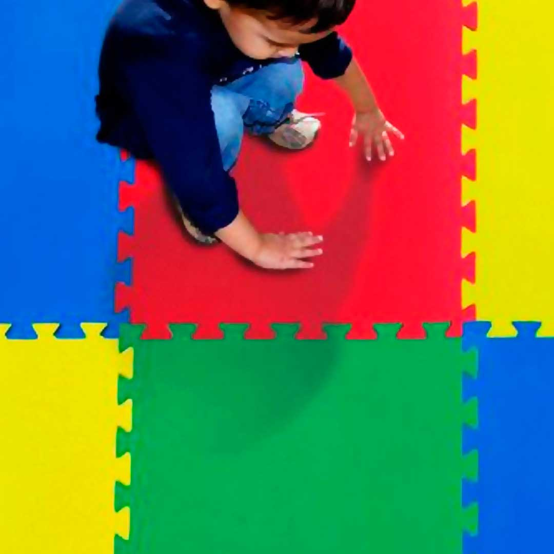 Tatame Eva Kids 10mm 0.50x0.50m - Vermelho - DTC