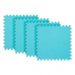 Tatame Eva Kids 10mm KIT 04 placas 0.50x0.50m Azul Claro