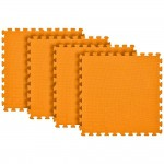 Tatame Eva Kids 10mm KIT 04 placas 0.50x0.50m Laranja