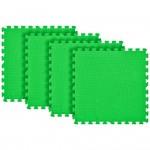 Tatame Eva Kids 10mm KIT 04 placas 0.50x0.50m Verde Bandeira
