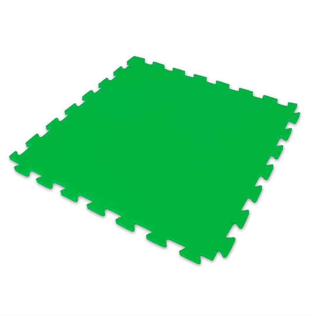 Tatame Eva Kids 20mm 0.50x0.50m - Verde Bandeira - DTC