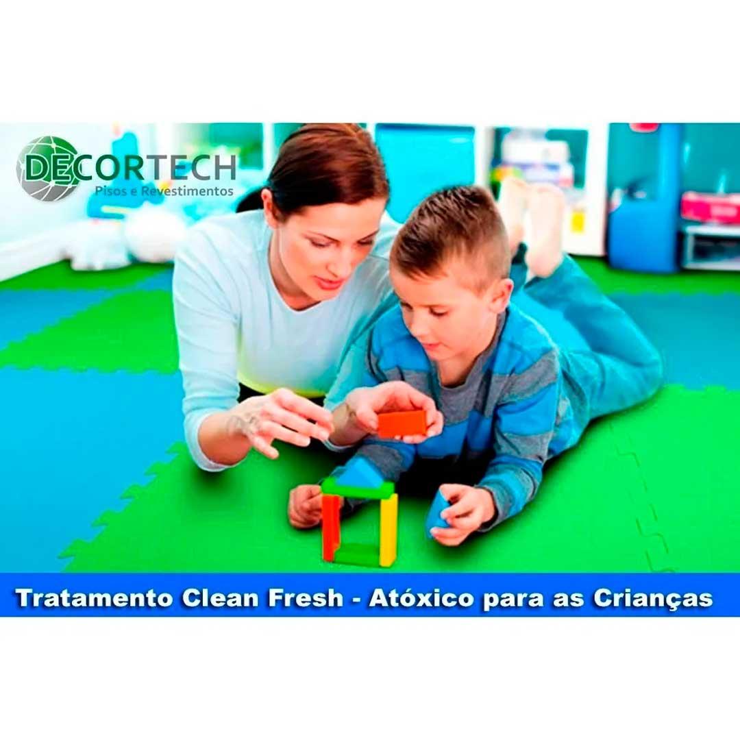 Tatame Eva Kids 20mm 0.50x0.50m - Verde Claro - DTC