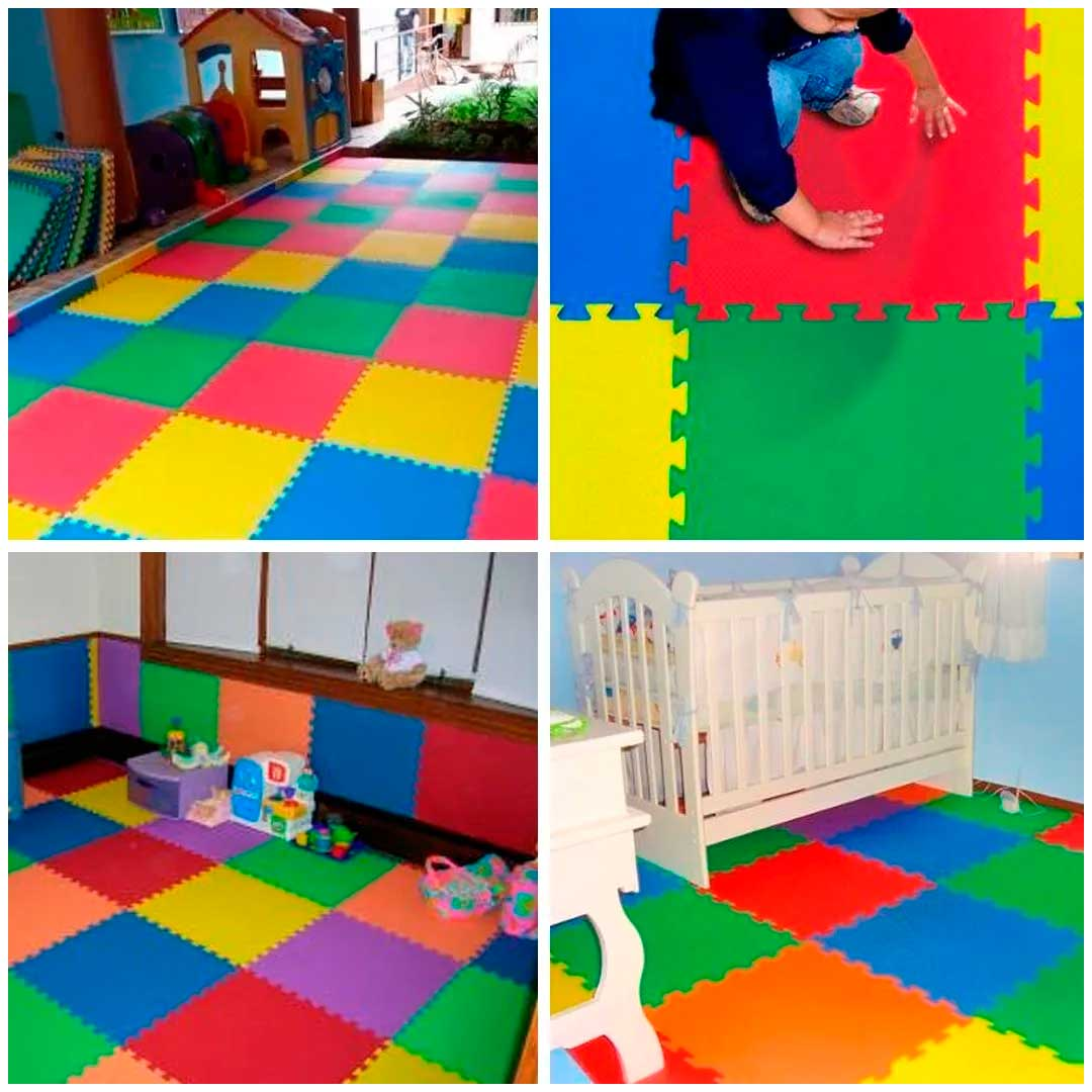 Tatame Eva Kids 20mm KIT 04 placas 0.50x0.50m Azul Claro