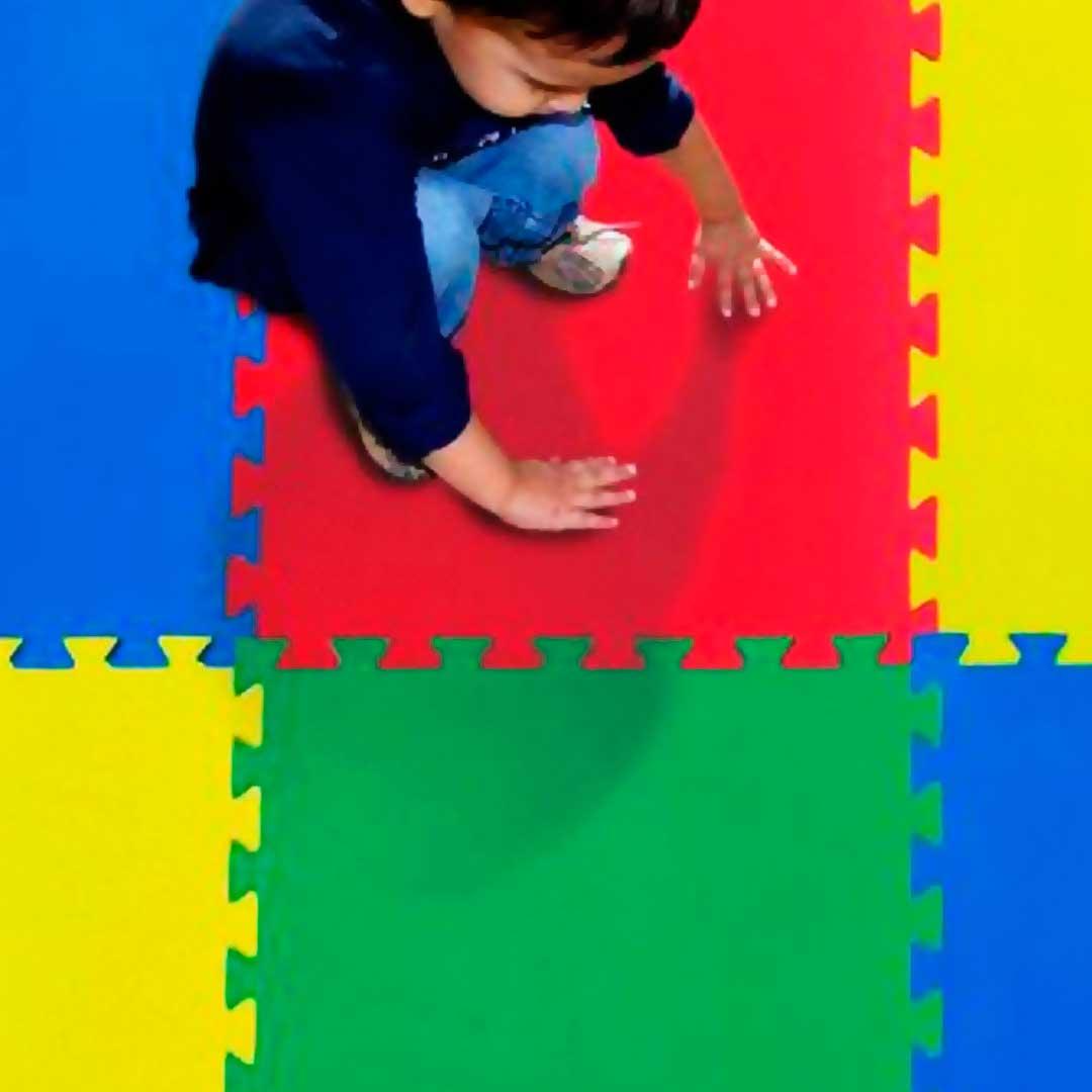 Tatame Eva Kids 20mm KIT 04 placas 0.50x0.50m Cinza