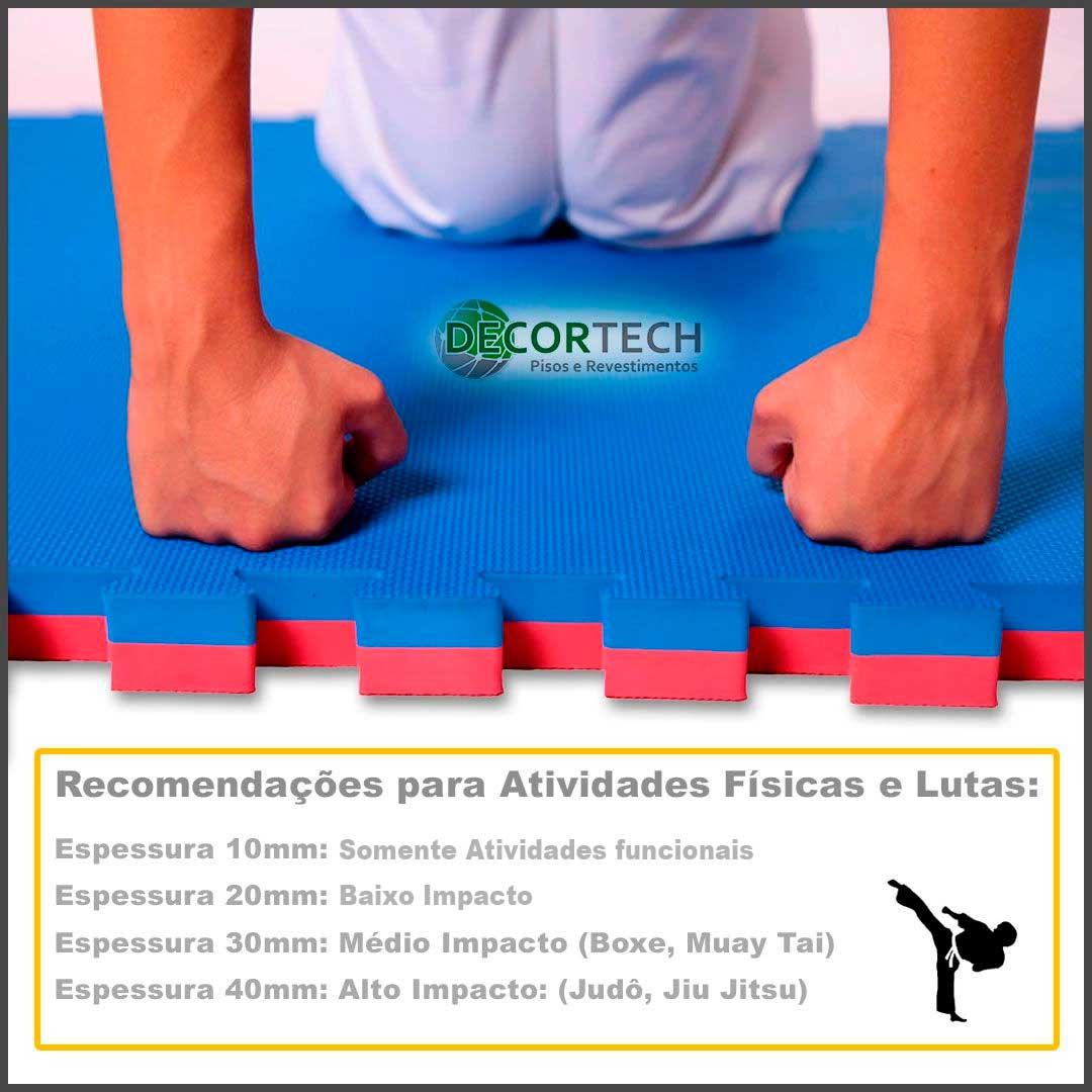 Tatame Ultra Max 10mm 0.50x0.50m - Laranja - DTC