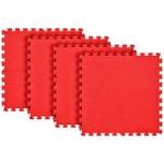 Tatame Ultra Max 20mm KIT 04 placas 0.50x0.50m Vermelho