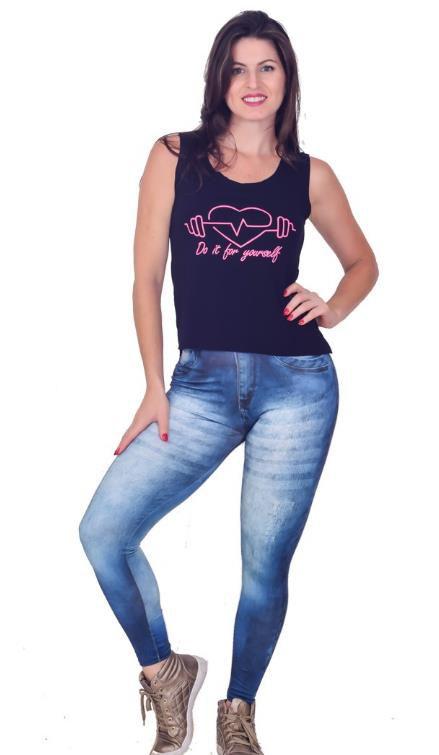 0e3d0de05 Calça legging fitness fake jeans - Roupas de Academia - Super ...