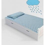 Jogo de cama infantil Branca de Neve 2 peças