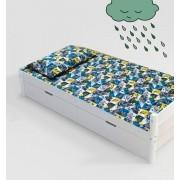 Jogo de cama infantil  Mini Cama Batman 3 peças 1,50m x 0,70cm