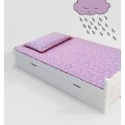 Jogo de cama infantil  Mini Cama Unicórnio  3 peças