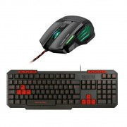 Kit Teclado e Mouse Profissional Gamer  warrior