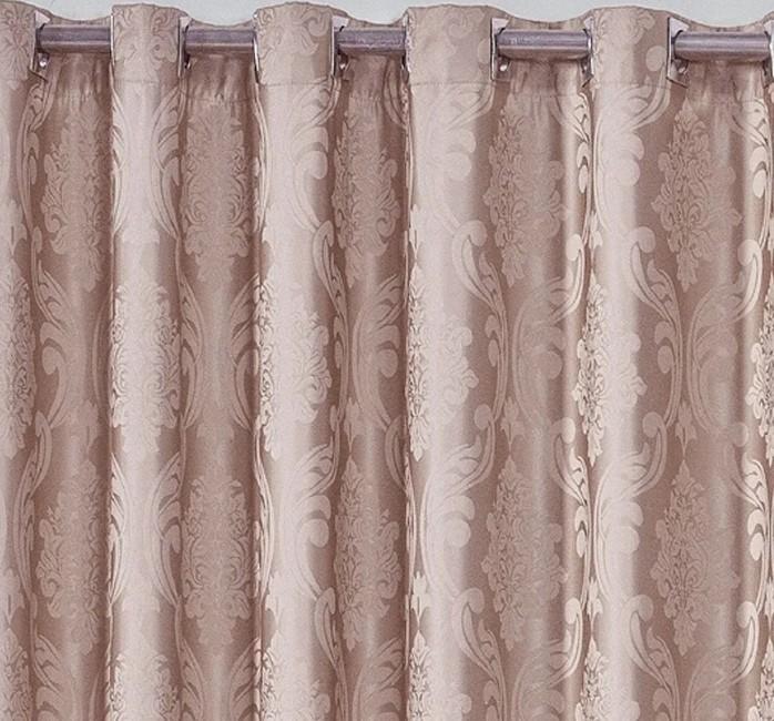 Cortina De Jacquard Rosé Coleção Primavera 4,00x2,70