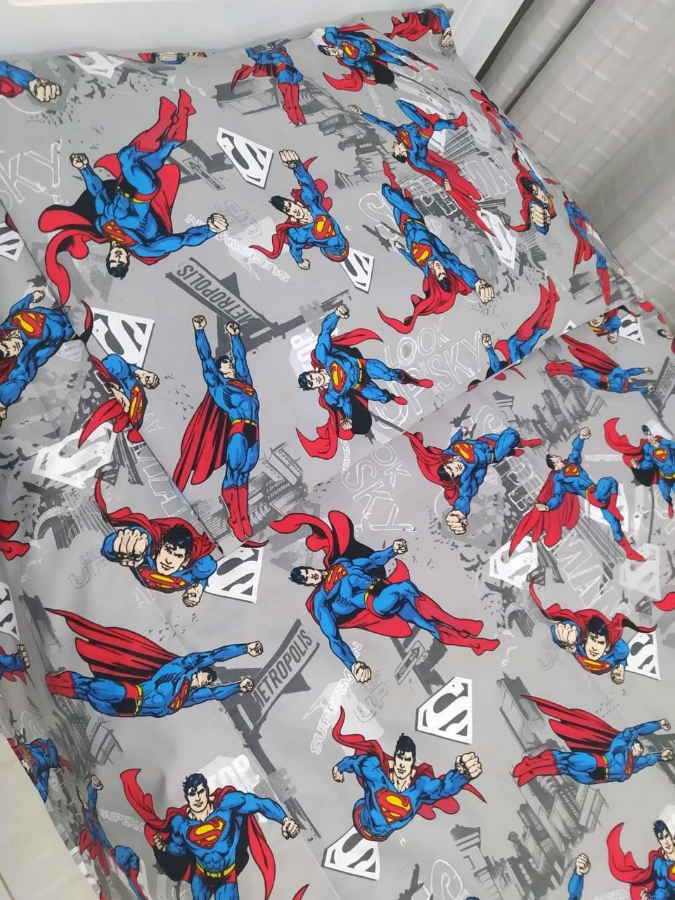 Edredom Solteiro Infantil Super Homem 2 Peças