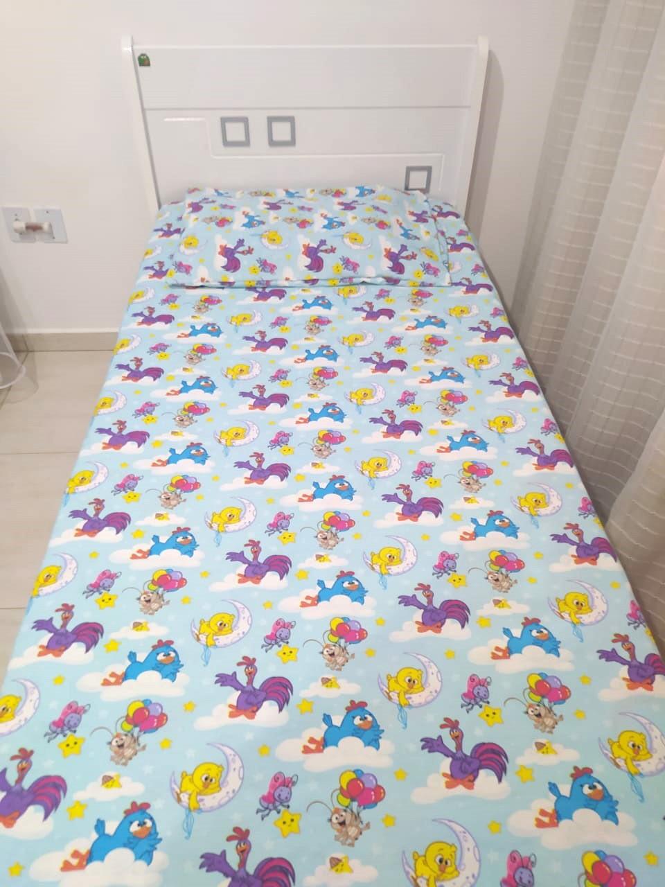 Jogo de cama infantil Galinha Pintadinha 3 peças- Licenciado