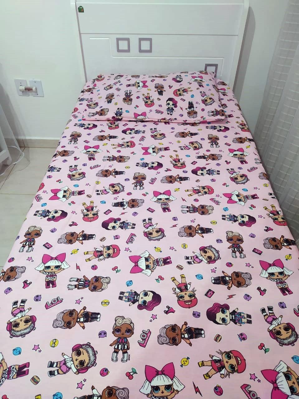 Jogo de cama infantil LOL 3 peças- Licenciado