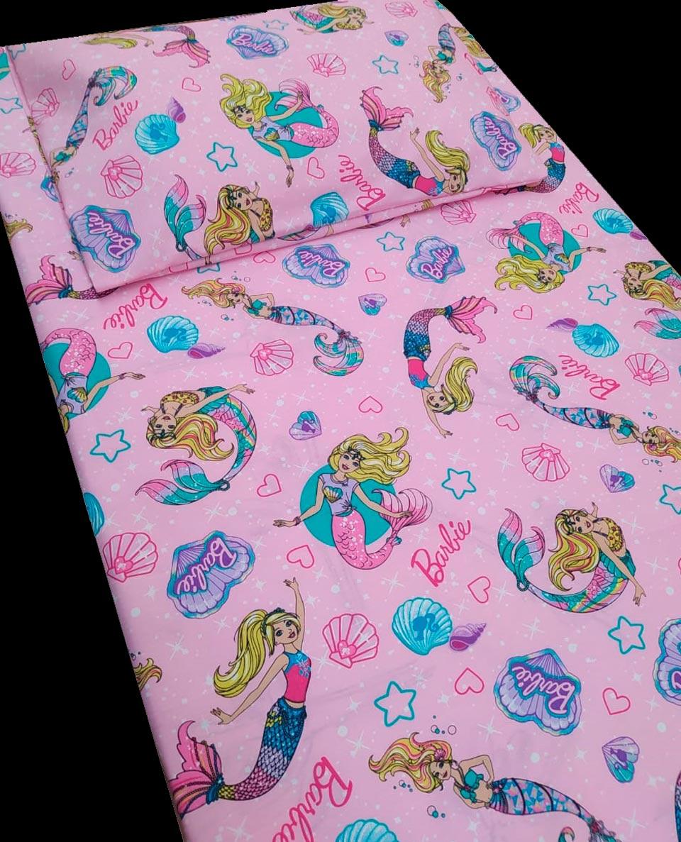 Jogo de cama infantil  Mini Cama Barbie 3 peças