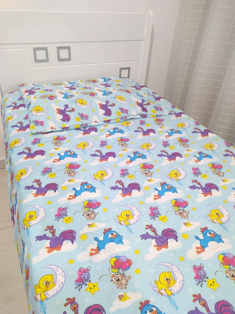 Jogo de cama infantil  Mini Cama Galinha Pintadinha -3 peças - Licenciado