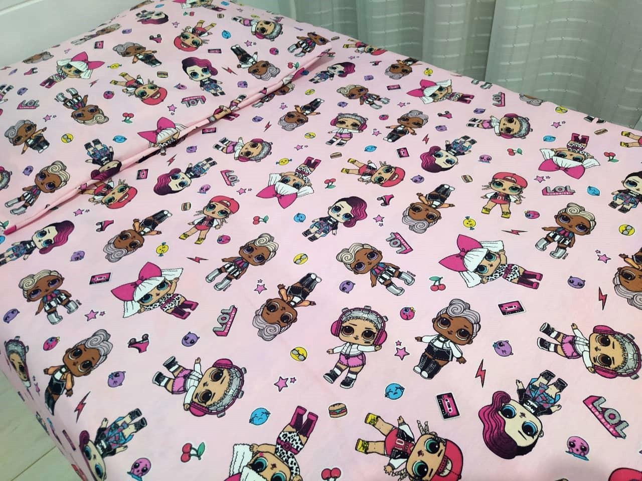 Jogo de cama infantil  Mini Cama LOL -3 peças - Licenciado