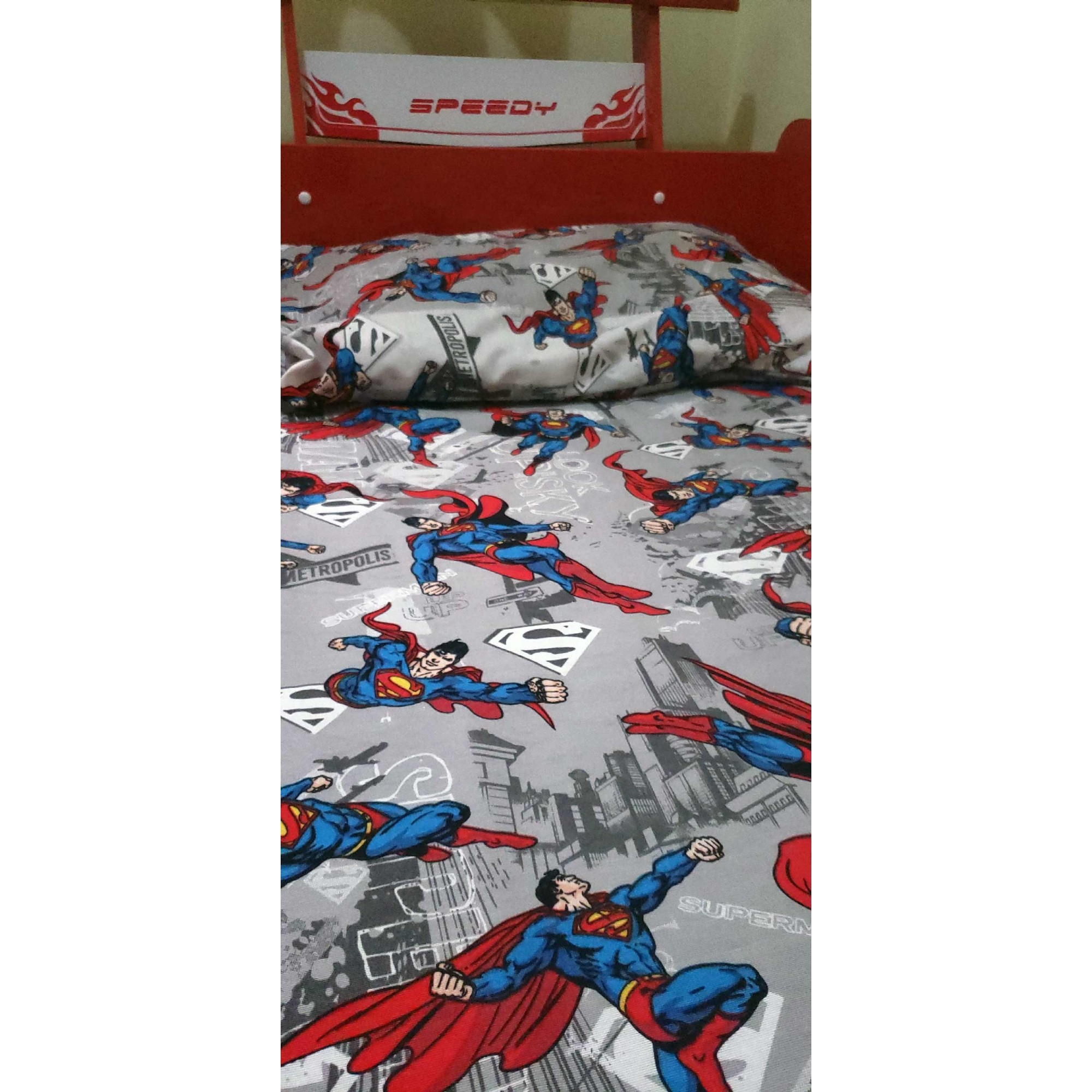 Jogo de cama infantil  Mini Cama Superman 3 peças