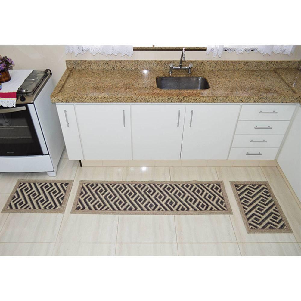 9005e9340 Kit Tapetes para Cozinha Sisal Venezia 3 - Priscila Decorações