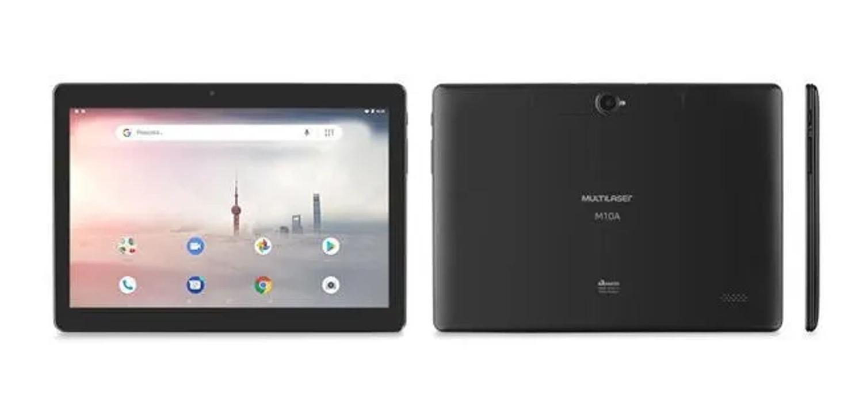 """Tablet Multilaser M10A 3G 10"""" 32GB preto com memória RAM 2GB"""