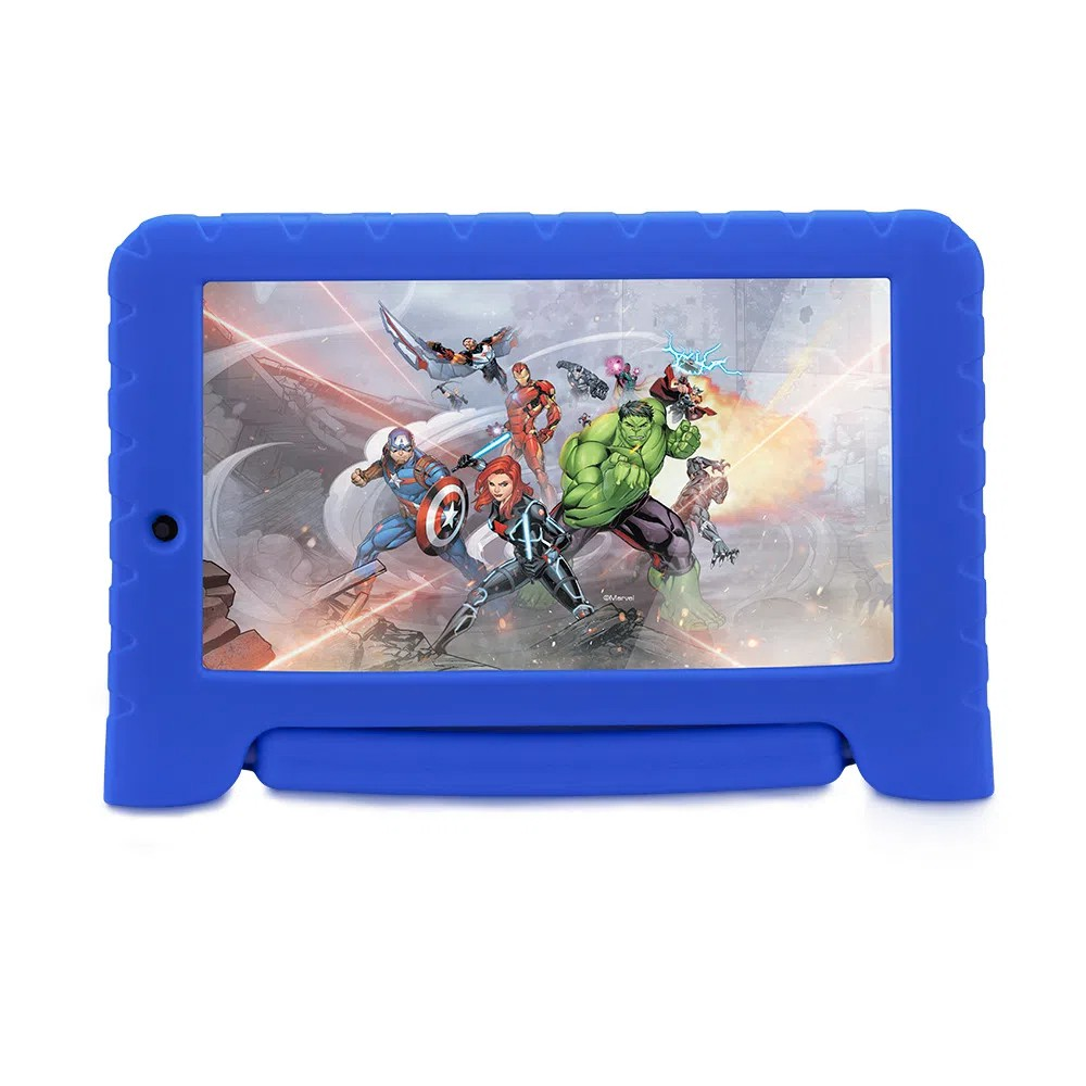 Tablet Multilaser Vingadores Plus 16GB Tela 7 Pol. Quad Core Dual Câmera Azul
