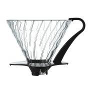 Suporte de vidro para café Hario V60 (Tamanho 3, Preto) - VDG-03B