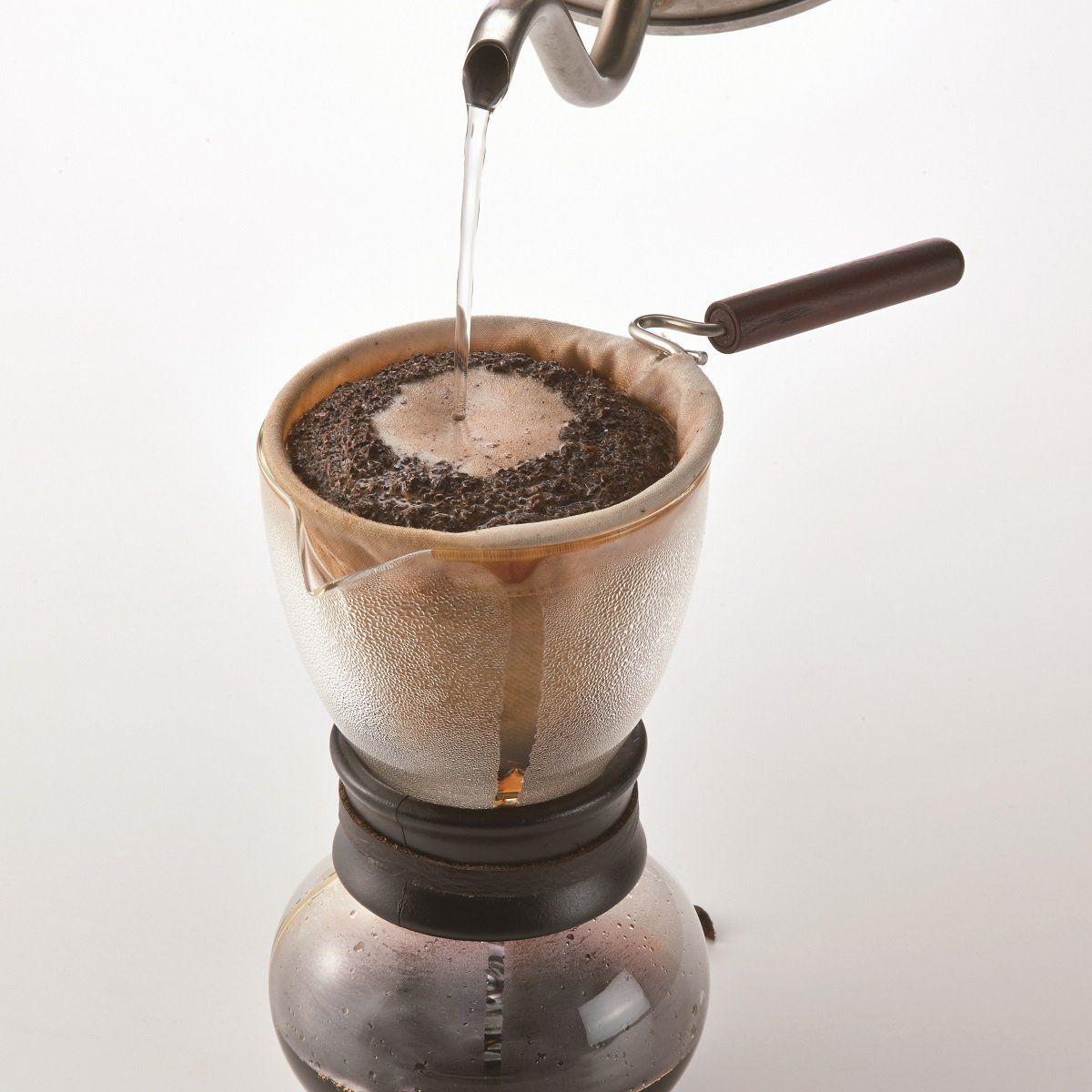 Cafeteira Hario em vidro com coador em tecido - 480 ml - DPW-3