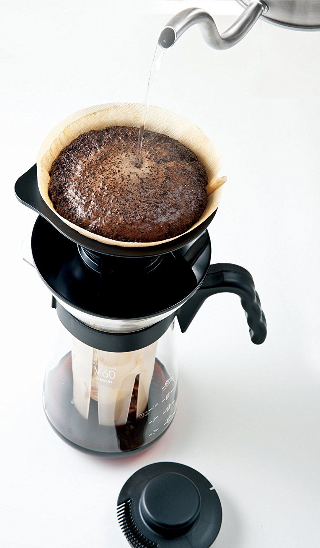 Cafeteira Fretta em vidro para café gelado ou quente Tipo V60 - Tamanho 2 - Capacidade para 700 ml - VIC-02B - Hario