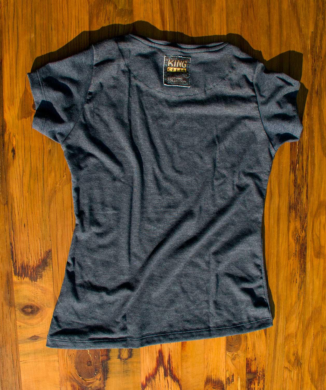 Camiseta College King Azul