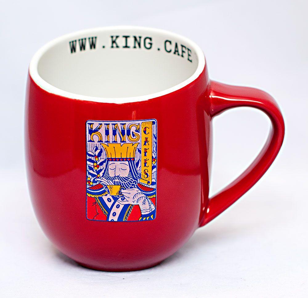 Caneca Gigante 480 ml (16 oz.) Vermelho Brilhante com Logo King