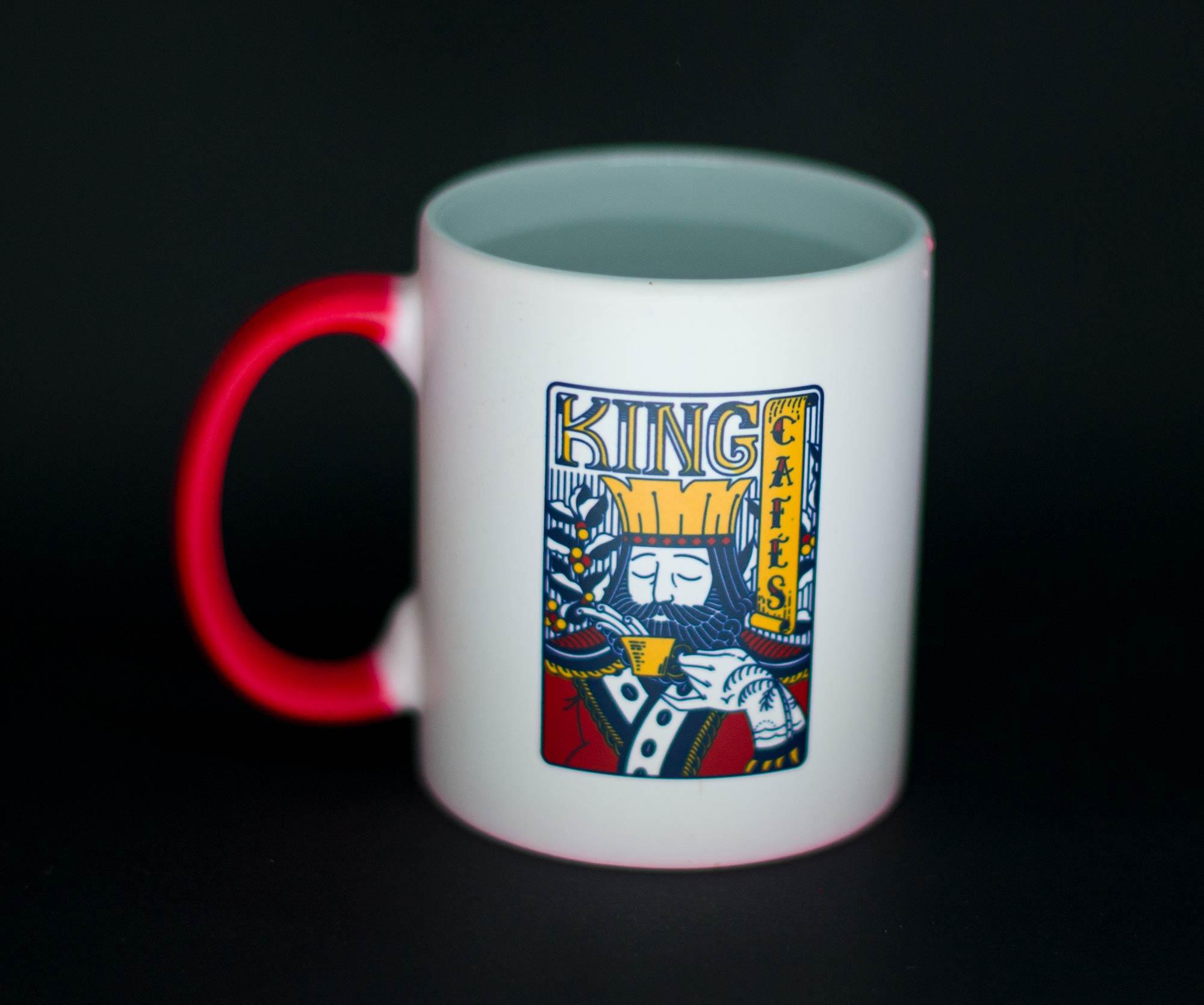 Caneca Mágica Coffee for Badasses Vermelha Fosca