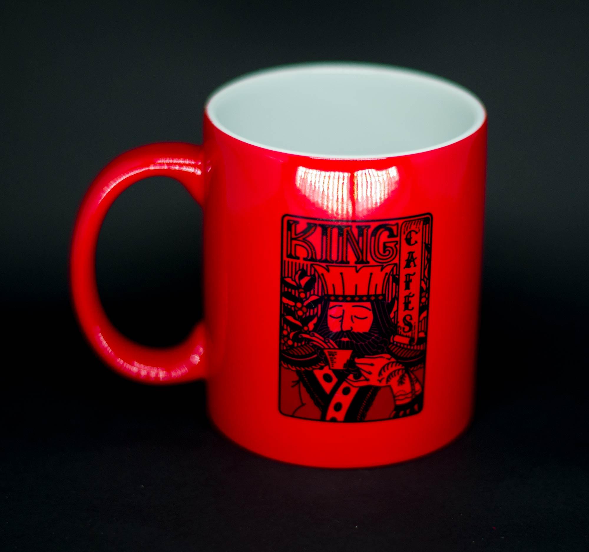 Caneca Mágica Tome Café Foda Vermelha Brilhante