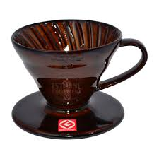 Suporte cerâmico p/ café Hario V60 Tam 1 Peq Marrom - VDC-01CBR