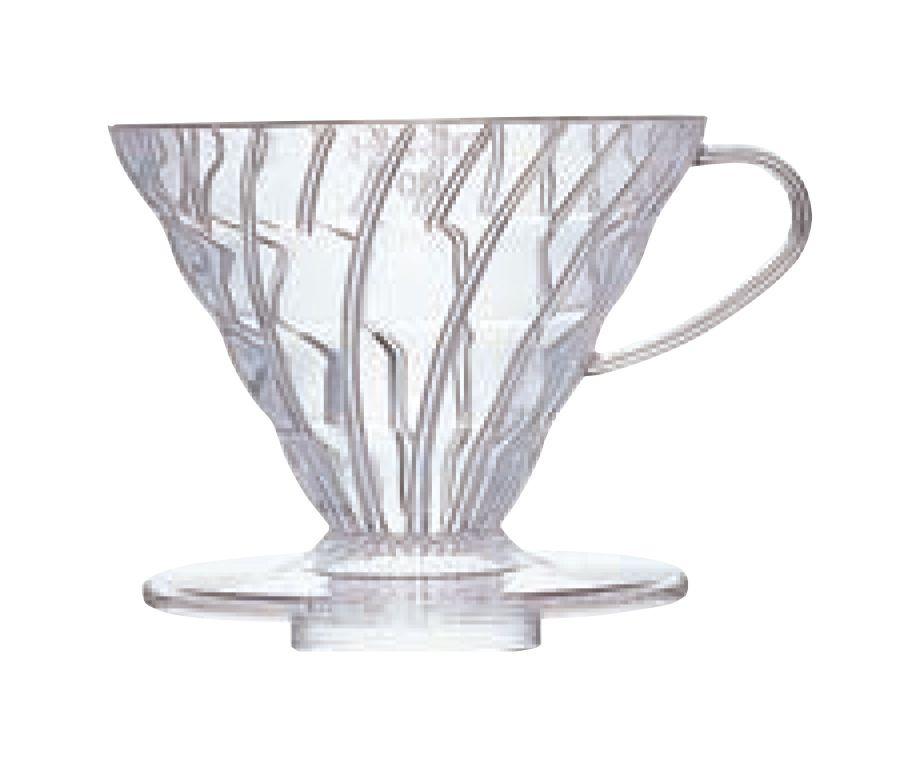 Suporte acrílico para café Hario V60 (Tamanho 2, Transparente) - VD-02T