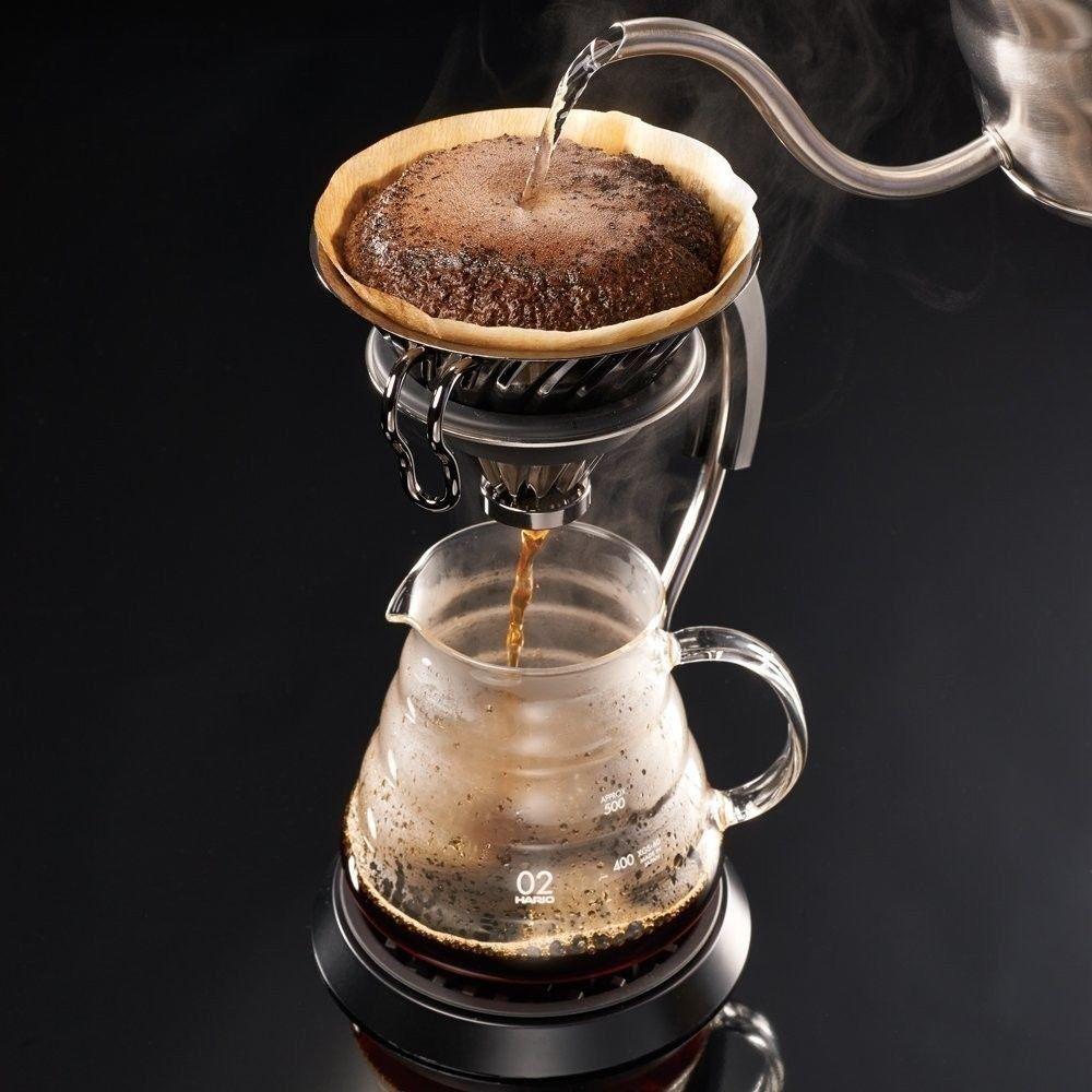 Suporte metálico para café Hario V60 (Tamanho 2, Inox natural) - VDM-02HSV