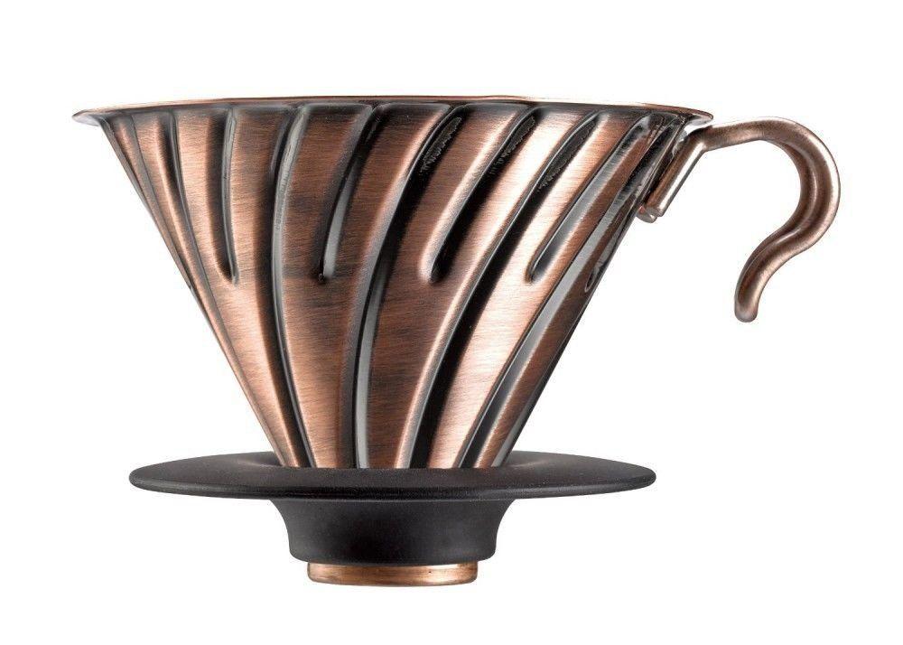 Suporte metálico para café Hario V60 (Tamanho 2, Cobre) - VDM-02CP
