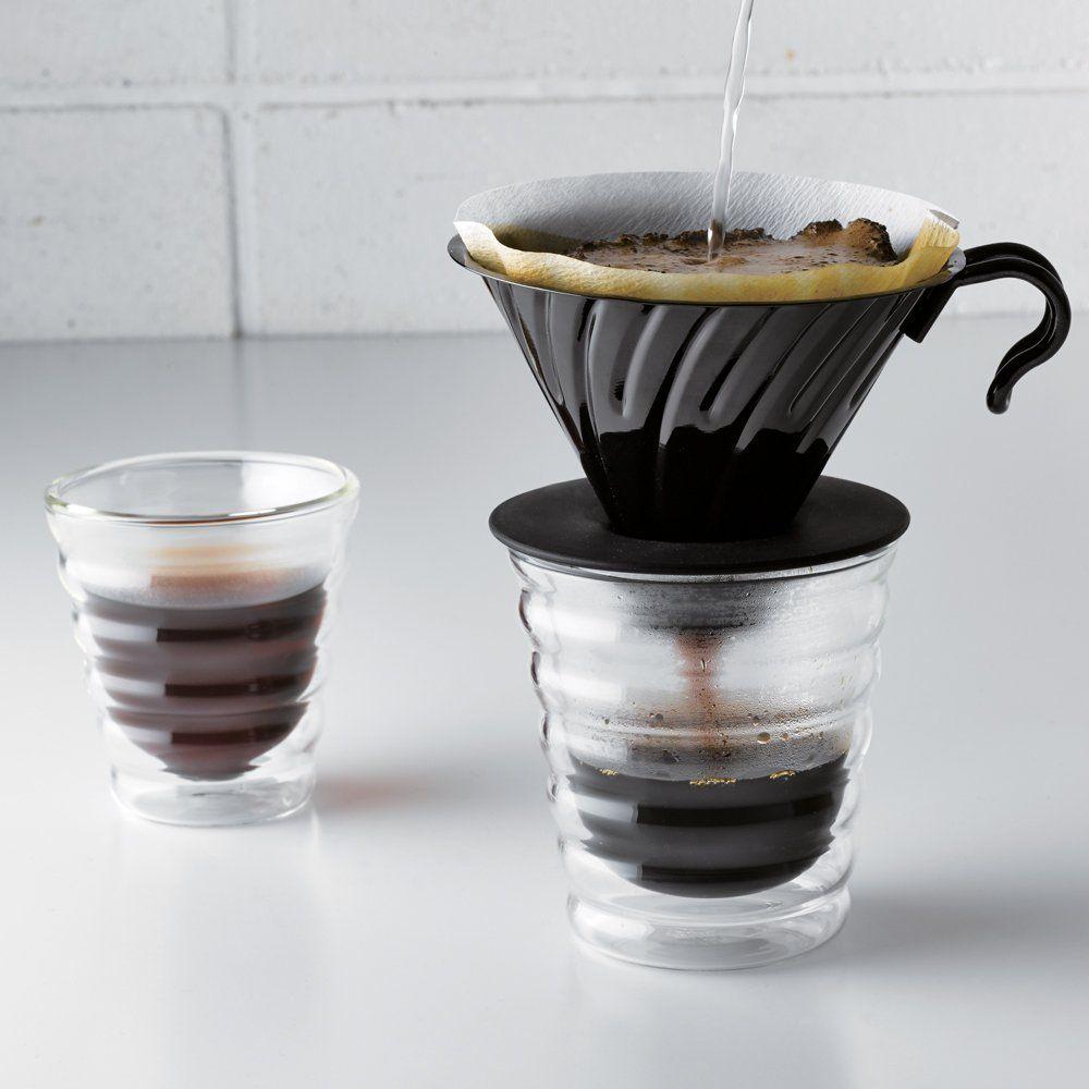 Suporte metálico para café Hario V60 (Tamanho 2, Preto) - VDM-02BC