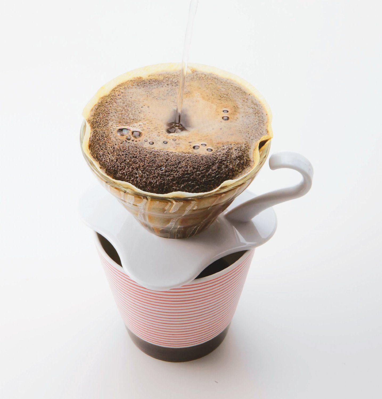 Suporte de vidro para café Hario V60 (Tamanho 1, Branco) - VDG-01W