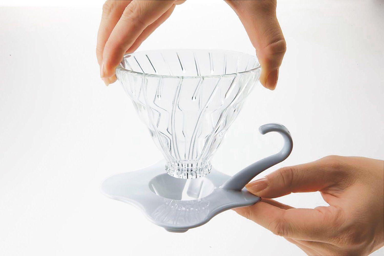 Suporte de vidro para café Hario V60 (Tamanho 1, Rosa) - VDG-01PC