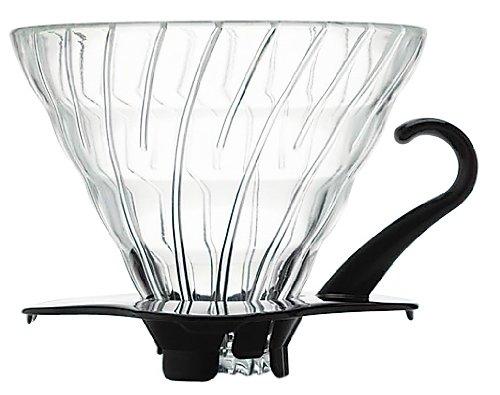 Suporte de vidro para café Hario V60 (Tamanho 2, Preto) - VDG-02B