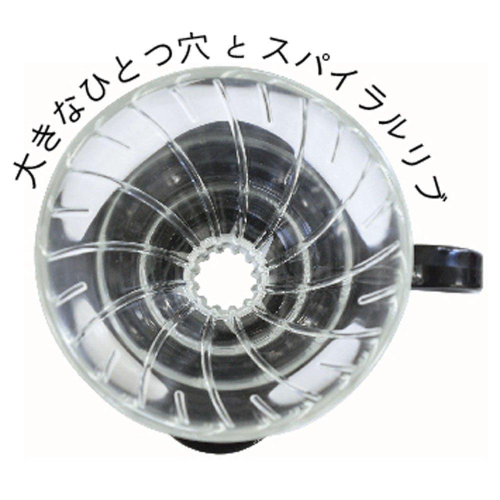 Suporte de vidro para café Hario V60 (Tamanho 2, Verde) - VDG-02GP