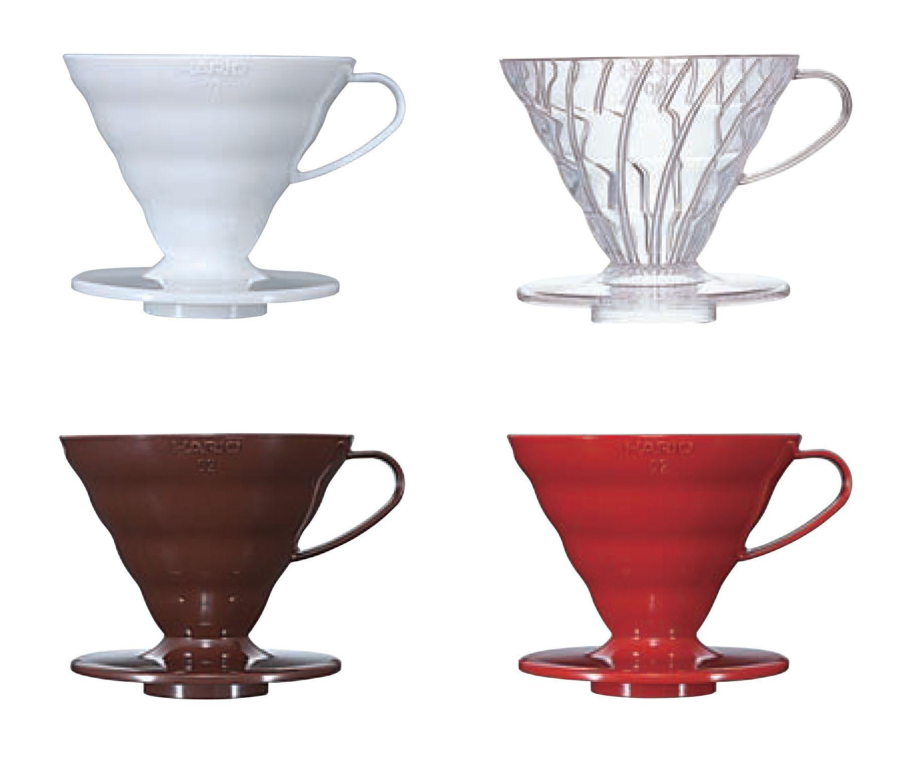 Suporte plástico para café Hario V60 (Tamanho 2, Branco) - VD-02W