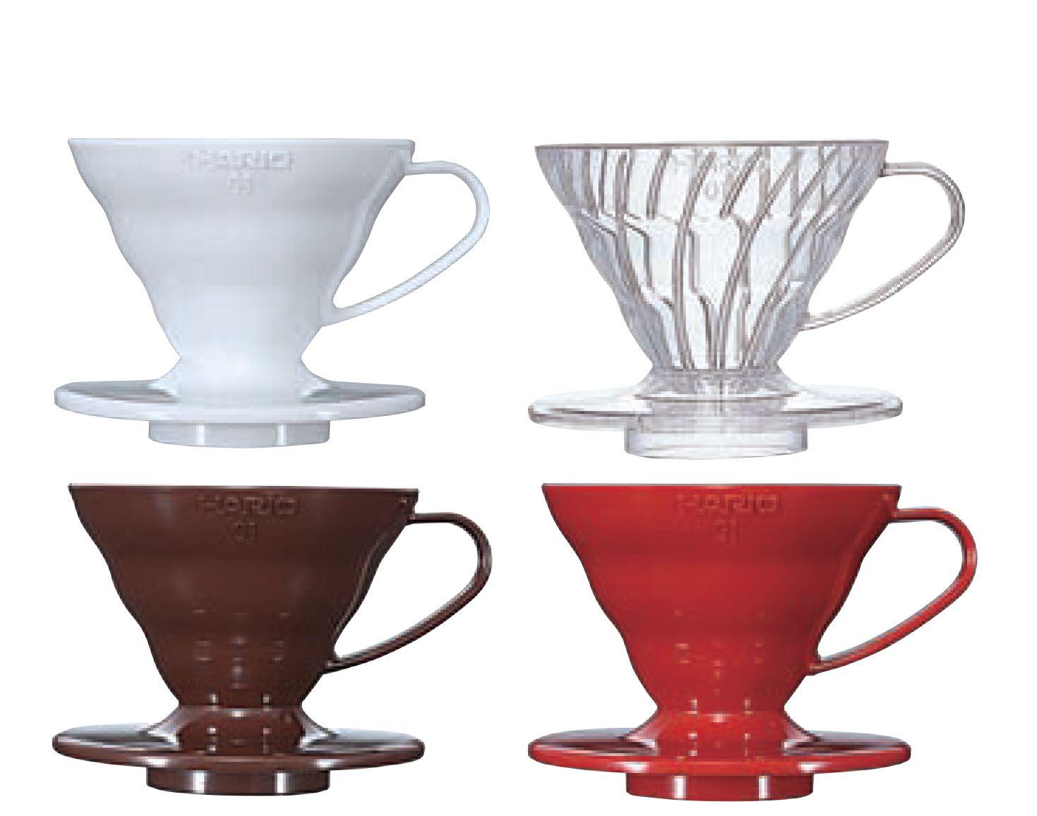 Suporte acrilico p/ café Hario V60 Tam 1 Peq Branco - VD-01W