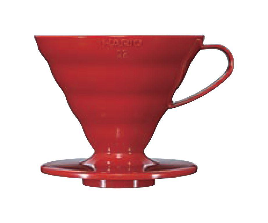 Suporte acrílico p/ café Hario V60 Tam 2 Méd Verm - VD-02R
