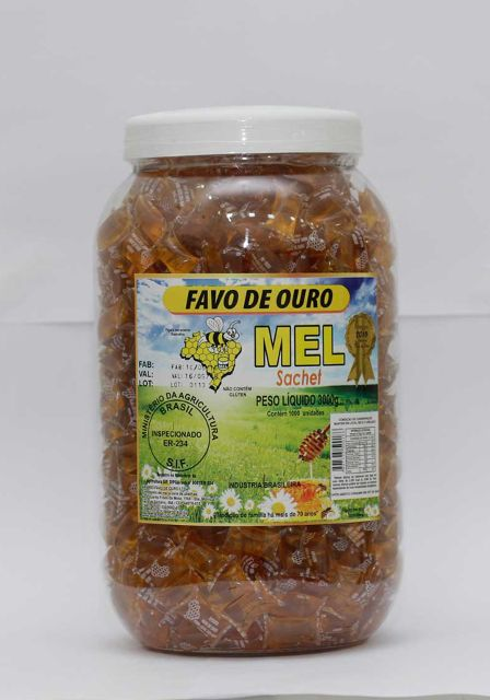 Frasqueira sachet mel puro 3000g