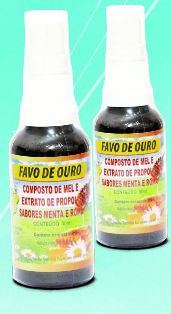 Spray própolis, mel e gengibre