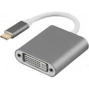 Adaptador conversor USB C para DVI ful HD USB 3.1 para DVI