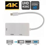 Adaptador Mini Displayport HDMI VGA DVI HDMI 4K 30Hz